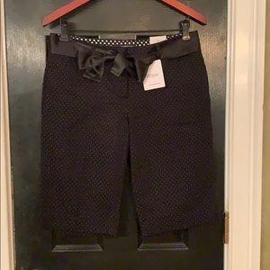 Express black city shorts with polka dots 6